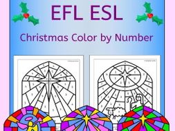 Christmas Color by Number classic designs for EAL EFL ESL