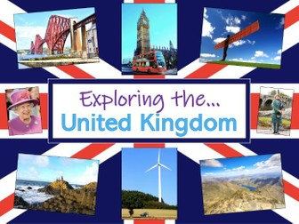 Exploring the United Kingdom - KS1 - medium term plan + vocabulary & topic title pages