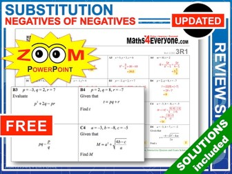 GCSE Revision (Substitution into Formulae)