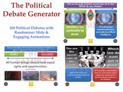 [P4C] The Political Debate Generator - [200 Political Debates with 'Randomiser'] PHILOSOPHY FOR KIDS