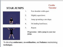 Cardio Vascular Circuit Cards  - with coaching points which can be printed and laminated