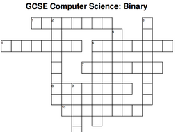 GCSE Computer Science crossword: Binary