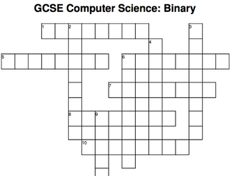 GCSE Computer Science crossword: Binary