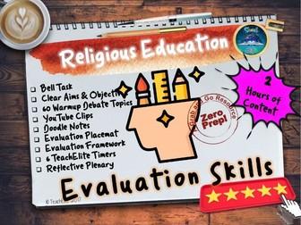 Religious Education: Evaluation (RE)