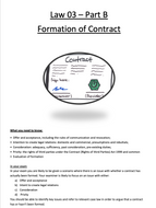 OCR CONTRACT LAW - Formation of a contract - Full booklet with content, evaluation and activities