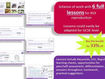 KS3 Reproduction Lessons Bundle