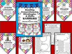 Dotty Reading Comprehension Skills Bunting Display and Activities