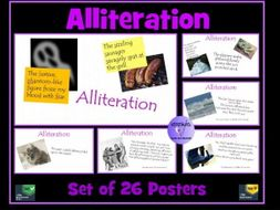 Alliteration - Set of 26 Posters