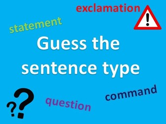 Sentence Types - Year 2 Games and activity bundle!