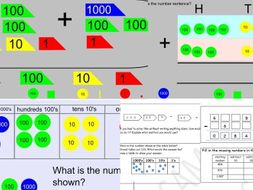 Mastery KS2 Year 3 Year 4 subtraction addition questions and presentation Greater depth