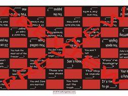 Tag Questions Checker Board Game