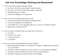 Test-Your-Knowledge-Bullying-and-Harrassment-answers.docx