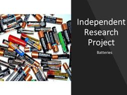 Independent research Project - batteries - Differentiation tool -revised