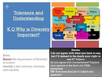 Tolerance and understanding KS3 RE (full topic)