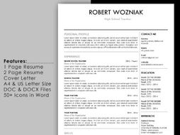 References Page For Resume Template.Simple Teacher Resume Template With Cover Letter And Reference Page
