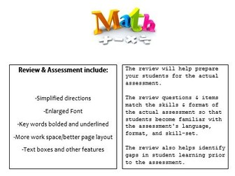 Grade 6, Math Module 4 REVIEW & ASSESSMENT w/Ans keys (printables & Smart Board)