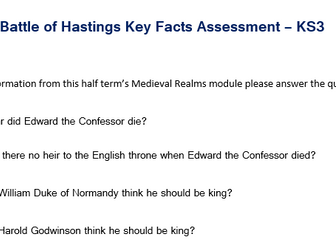 Battle of Hastings Assessment