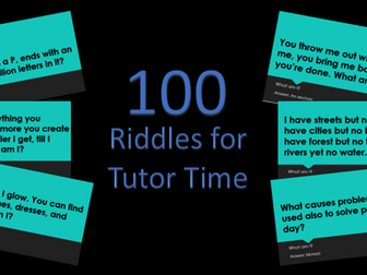 100 Tutor Time Riddles