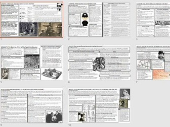 GCSE History Edexcel Whitechapel Fact Sheets - Book Replacement or revision