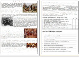 The history of thanksgiving reading comprehension worksheet text the history of thanksgiving reading comprehension worksheet text ibookread Download