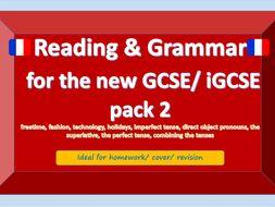 NEW GCSE / iGCSE Reading and Grammar French bundle 2