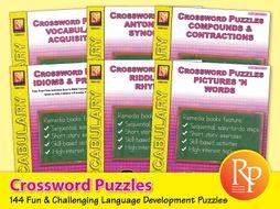 Crossword Puzzles: Language Development {Bundle}