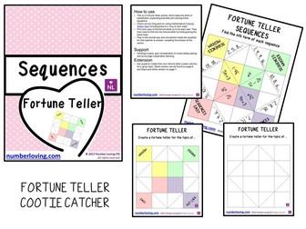Sequences Nth Term (Cootie Catcher)