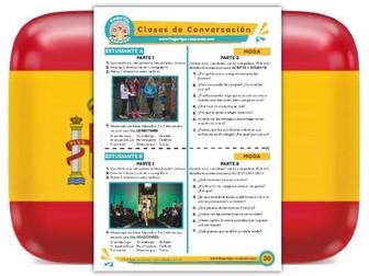 Moda - Spanish Speaking Activity