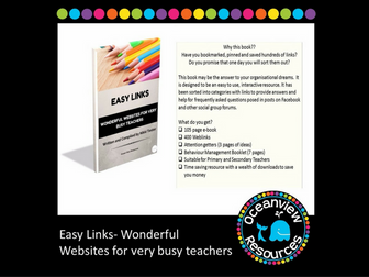 Easy Links, Wonderful Websites for very busy Teachers