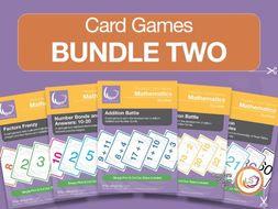 Card Game Bundle 2 | 5 Games for Basic Math - Factors, Number Bonds, etc.