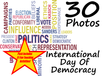International Day of Democracy - PowerPoint and 31 different ideas of how to use these flashcards
