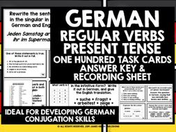 GERMAN REGULAR VERBS CHALLENGE CARDS #1