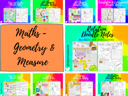 Geometry Maths Doodle Notes Bundle
