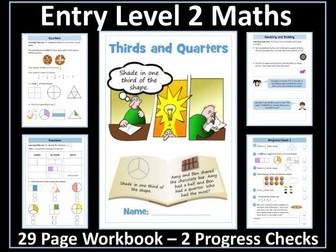 AQA Entry Level 2 Maths - Ratio - Fractions - Thirds - Quarters