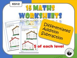 Differentiated maths addition/subtraction KS1/2