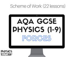 AQA GCSE Physics (1-9) Forces Scheme of Work (full lesson plans - 22 lessons)