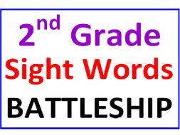 Second Grade Sight Words BATTLESHIP