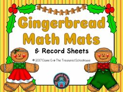 Gingerbread Math Mats and Record Sheets