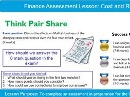 Business: Cost&Revenue Assessment Lesson