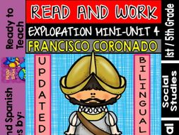 Exploration Mini-Unit 4 - Francisco Coronado - Read and Work - Bilingual