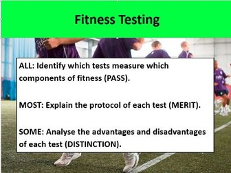 sport btec fittness cards