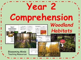 Year 2 SATs style comprehension - Habitats - Woodlands - Science