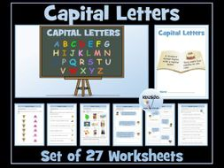 Capital Letters Worksheets