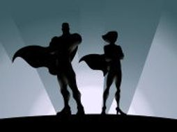 male and female superhero templates art potential stimuli for