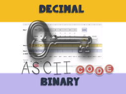 ASCII Code game for learning binary/decimal conversion in Excel Spreadsheet