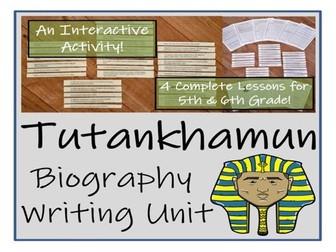 UKS2 History - Tutankhamun Biography Writing Unit