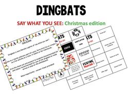 Christmas quiz - Dingbats