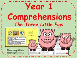 Year 1 comprehension - The Three Little Pigs - Traditional Tales
