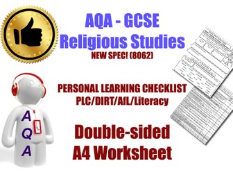 Christianity & Islam Personal Learning Checklists
