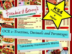 OCR GCSE Maths Fractions, Decimals and Percentages